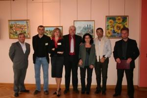 Почетные гости городов побратимых на авторской выставке А. Ясин: мер города Франции, Италии и Польши