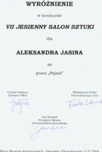 Диплом на Международном Художественном Салоне, Польша