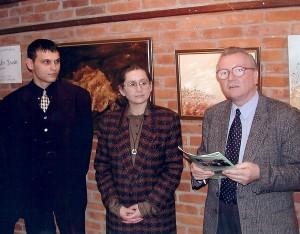 Открытие авторской выставки в Сташове, Польша.
